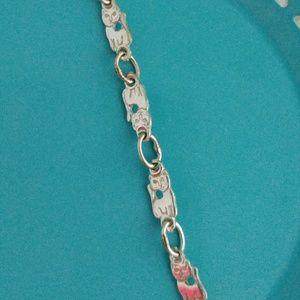 Jewelry - Sterling Silver Kitty Cat Link Bracelet