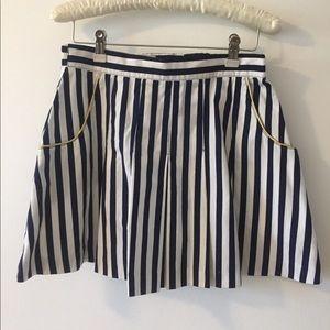 Stripe Skater Skirt