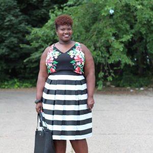 Dresses & Skirts - Custom Made Stripe Midi Skirt