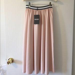 NWT Pink Midi Skirt