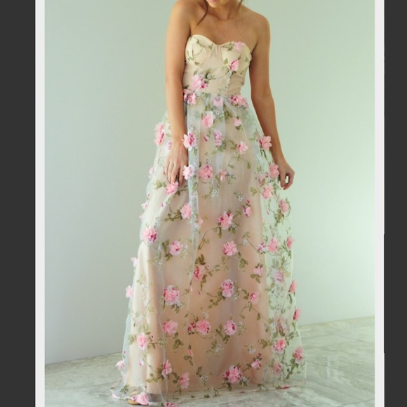 71f247296c39 Boutique Floral Formal Maxi Dress