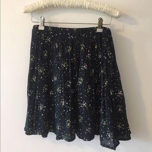 Chiffon Flower Print Skirt