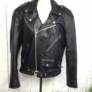 Wilson Leather Motocycle  Vintage Unisex Jacket