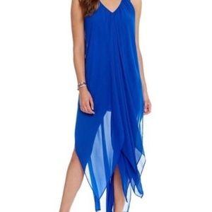 Michael Kors flutter high low drape caftan dress