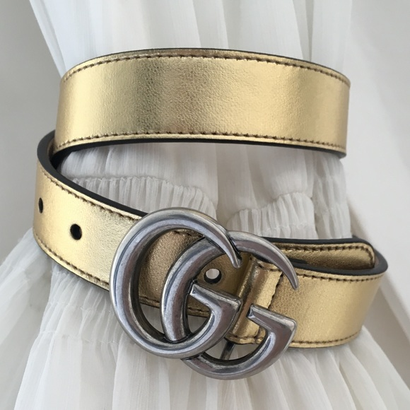 ae6ee1816 Gucci Accessories | Authentic Marmont Gold Silver Waist Belt | Poshmark