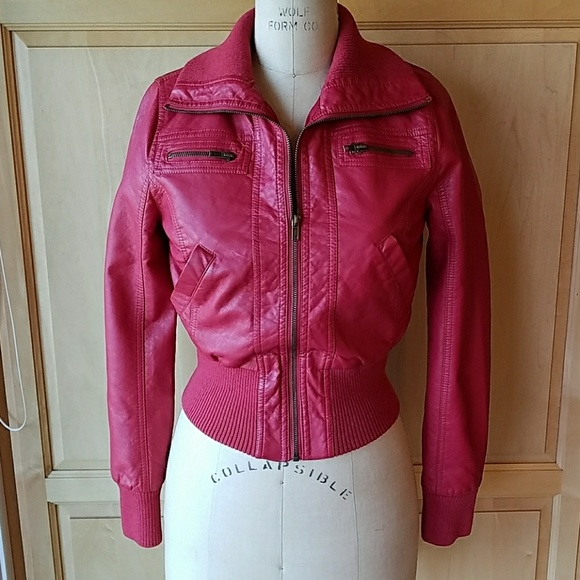 7ec7f59e4 Ambiance apparel faux leather bomber