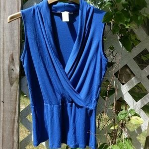 2/$15 Lucy and Laurel Royal Blue Knit Top
