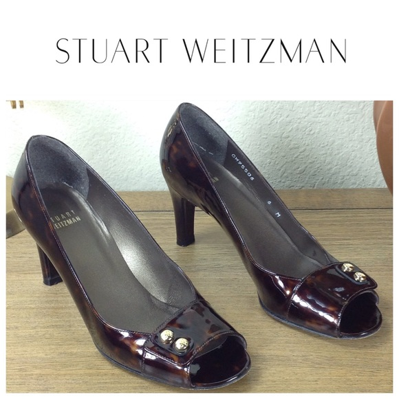 Stuart Weitzman Tortoiseshell Peep-Toe Pumps best store to get cheap price best seller online XLcjVVWV