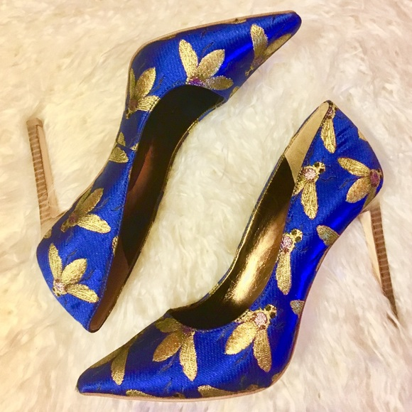33% off Nine West Shoes - Statement Pumps; Blue   Gold Bee Detai ...