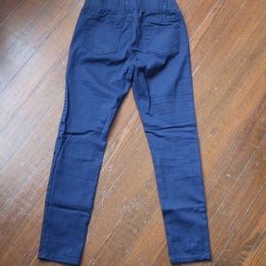 Peek a Boot Pants - Navy Moto Ankle Chino Pant