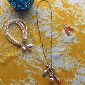 Jewelry - Pearl and Silver Set