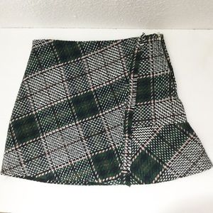 Chicwish Plaid Flare Mini Skirt
