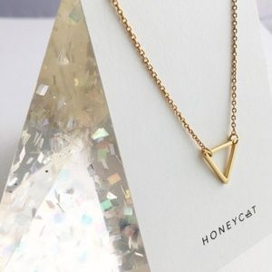 BVO Jewelry - LAST ONE! Delicate Open Triangle Necklace