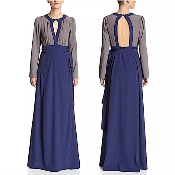 Candela Maxi Dress Intricate Long Draped Wrap Gown   Poshmark