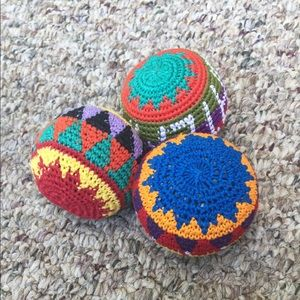 hacky sacks, bookmarks, bracelets & coin purse for sale