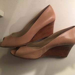 474d4a700267 Nine West Shoes - Nine West Power Surge Nude Open Toe Wedge