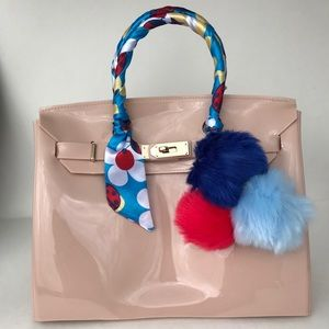 Handbags - Jelly pvc summer Beach Birkins style handbag