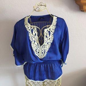 Ali & Kris Blue Butterfly style top