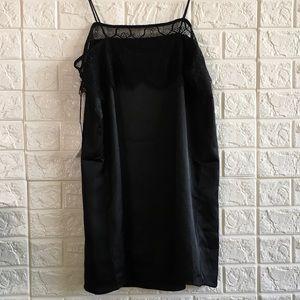 Nasty Gal Dresses - 2️⃣🛑 Too Bad Lace Trim Satin Cami Slip