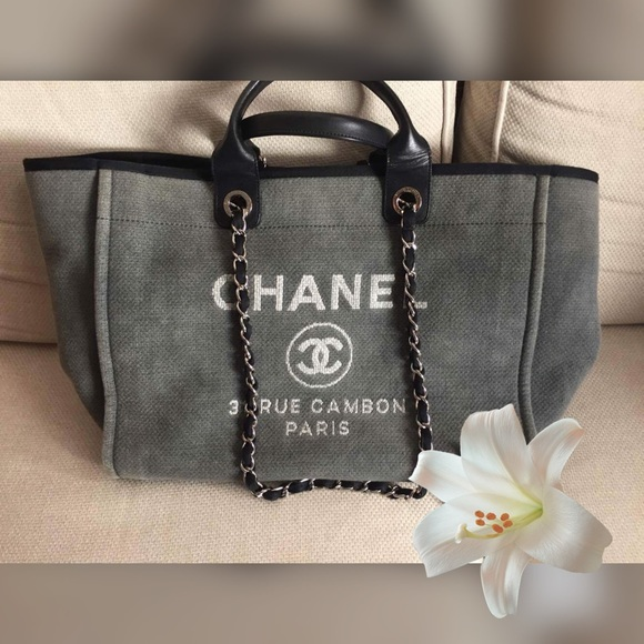 33715a70f CHANEL Bags | Deauville Large Tote Firn | Poshmark