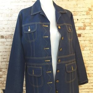 Newport News long denim jacket