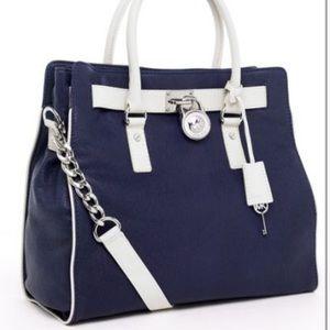 Michael Kors Navy and White handbag