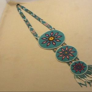 Jewelry - Vintage Indian necklace 3 tier Medallion style