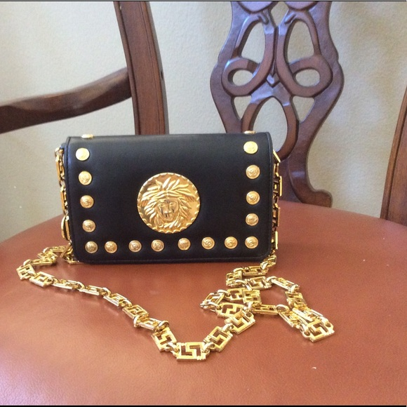 d7bbaac9bf Versace Collection Bags   Authentic Gianni Versace Medusa Gold Chain ...