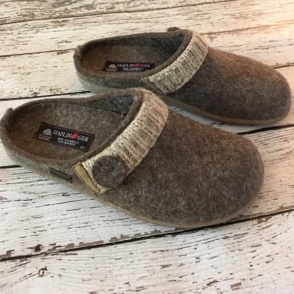 haflinger leslie crepe soled slippers 40 10 womens