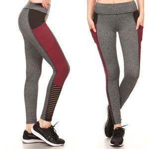 Pants - NEW 🎉 Color Block Sporty Mesh Leggings