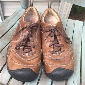 Men's Keen Brown Leather Oxfords Size 10.5M