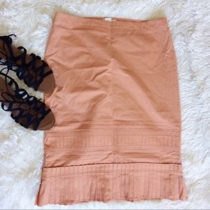 KORS byMICHAEL KORS blush kneelength pleated skirt