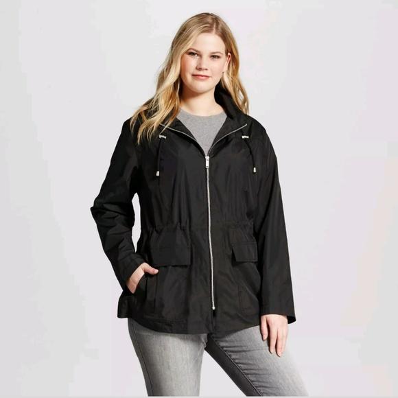 8578aa3a1aa99 NWT Ava   Viv Plus Size Rain Jacket
