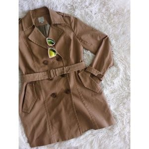 NORDSTROM khaki long sleeve double dressed trench