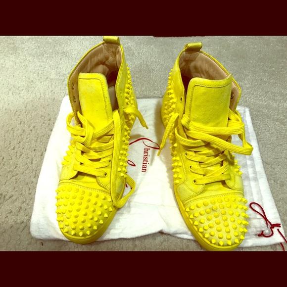 e8e3c337683 Christian Louboutin Other - Neon Yellow Christian Louboutin Sneakers