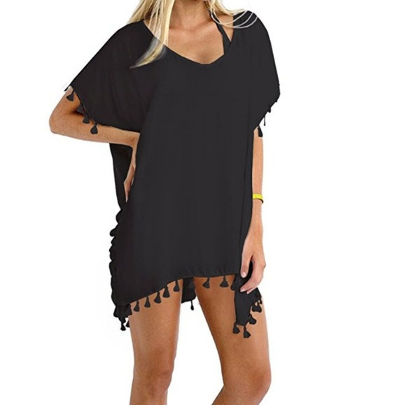 3dfd3491568c3 Stylish Chiffon Tassel Beachwear Bikini Cover up