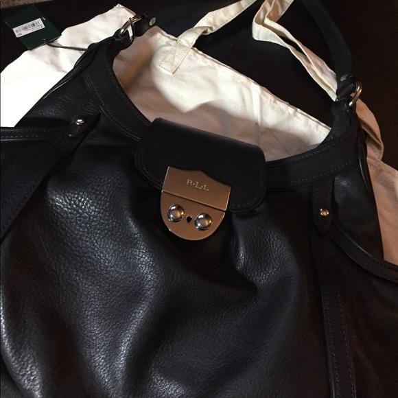 Lauren Ralph Lauren Handbags - ❗️SALE❗️Authentic leather Ralph Lauren hobo bag