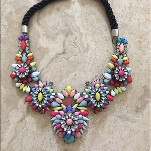 Rainbow colorful  statement and unique necklace