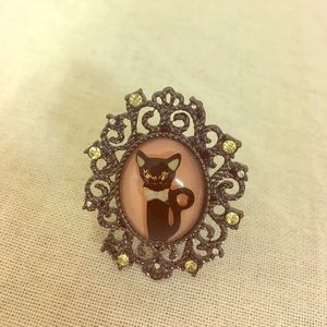 Betsey Johnson cat ring