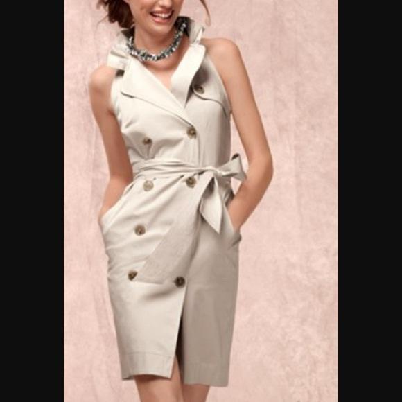 7efb8e0edee8 Ann Taylor Dresses | Sleeveless Gray Trench Dress | Poshmark