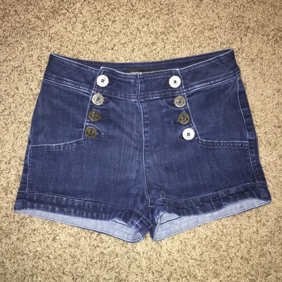 Express Pants - LAST ONE - EXPRESS High-Waisted Denim Shorts