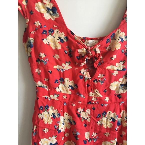 1361c29b5 Forever 21 Pants - Forever 21 Red Floral Romper