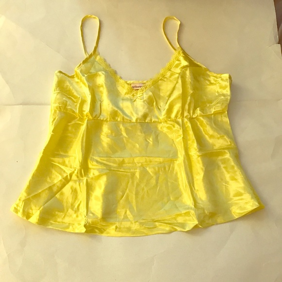 9aa9a6717db6 Jolinesse Women s Yellow Sexy Sleep Top Size  L
