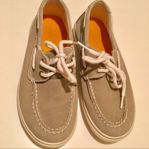 Boys Canvas Sperry Top Siders Size 2