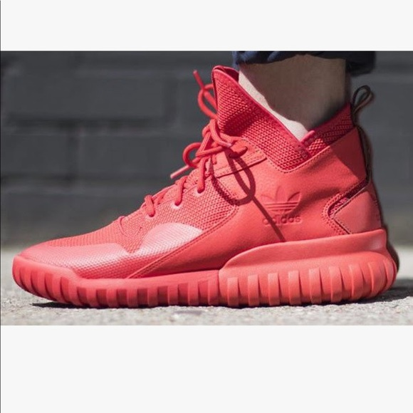 51c82ba9c7b7 adidas Other -  adidas  all bright red high top tubulars sneakers