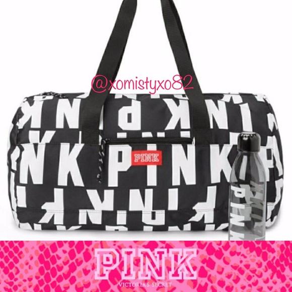 a8f91ec0358d PINK Friday Logo Duffle Bag Water bottle