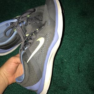 Gray Nike athletic shoes