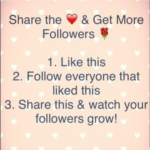 Share game! Follow me and I will follow you too!