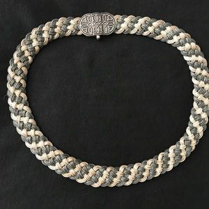 Sterling 925 braided necklace/choker