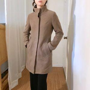 Cowl neck button up coat